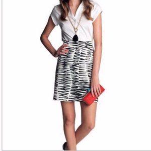 NWT Trina Turk & Banana Republic Zebra Skirt sz12
